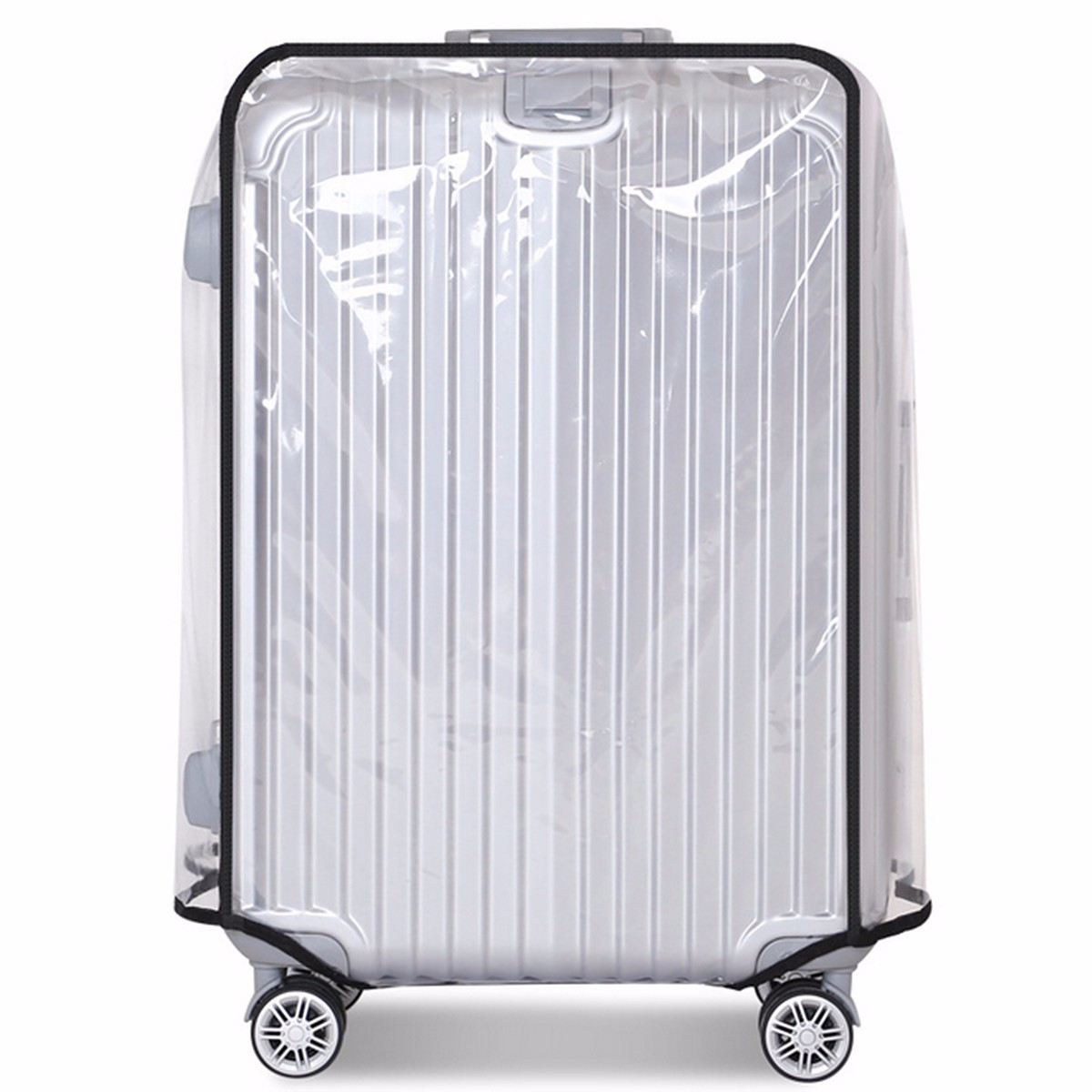 AEQUEEN DustProof Luggage Protective Cover Waterproof Luggage Cover Transparent PVC Trolley Suitcase Cover Travel Case 20-30inch
