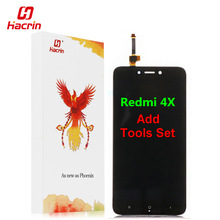 hacrin Xiaomi Redmi 4X LCD Display Touch Screen Test Good Digitizer Assembly Replacement For Xiaomi Redmi 4X Pro Prime 5.0 inch