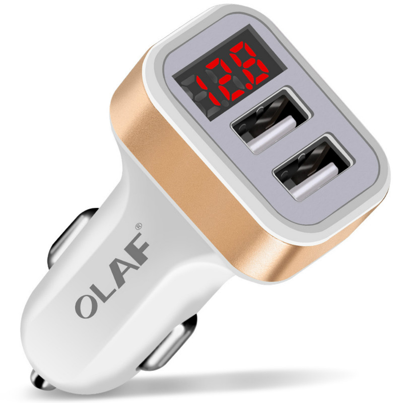 Car Charger Portable 5V 2.1A Fast Charging GPS Dual USB Car-Charger For iPhone Samsung iPad Double USB Charger