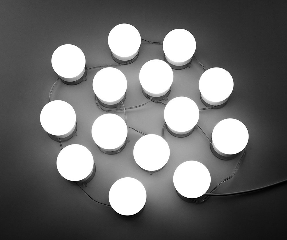 Us 4511 Hollywood Diy Vanity Lights Strip Kit Voor Verlichte Make Kaptafel Spiegel Plug In Led Verlichting Armatuur In Hollywood Diy Vanity Lights