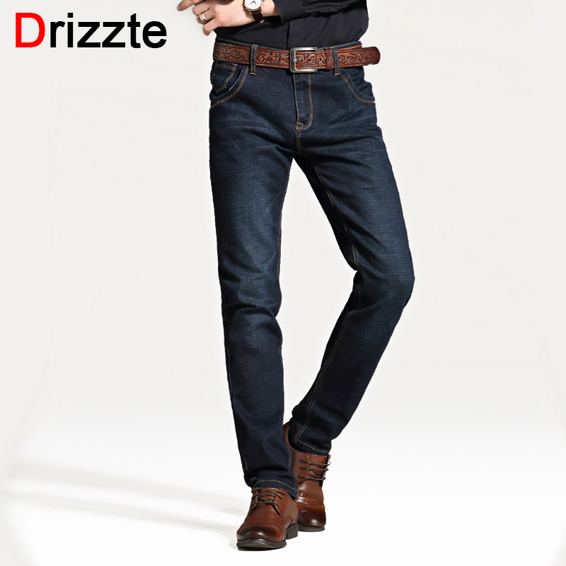 Drizzte Brand Mens Stretch Denim Black Blue Jeans Jean Slim Trouser Plus Size Pants 35 36 38 40 42 drizzte brand men stretch denim slim jeans black blue fashion trendy trousers pants size 33 34 35 36 38 40 42 for men s jean