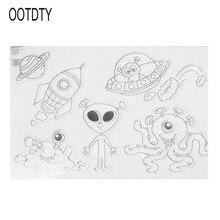 DIY Craft Layering Silicone Transparent Alien Seal Painting Stencil Wall Scrapbooking Template Stamps Album Decorative Children scrapbooking diy 50