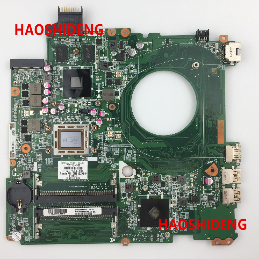 Free Shipping 766715-501 DAY23AMB6C0 Y23A for HP PAVILION 15-P 15Z-P motherboard .All functions 100% fully Tested ! free shipping 682040 501 for hp pavilion dv7 dv7 7000 dv7t motherboard hm77 650m 2g all functions 100% fully tested