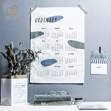 2019 365days Cotton Calendar Creative Wall Decoration Wall Calendar Office School Daily Planner Notes Schedule Office Supply