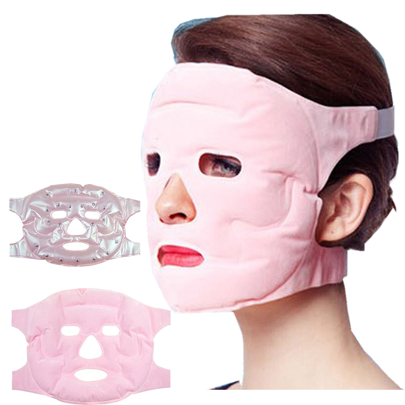 Facial Mask Face Skin Care Makeup Masks Gel Magnet Thin Face Remove Pouch Health Magnetic Masks Slimming Acupoint 1pcs Magnetite