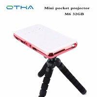 OTHA Portabe DLP Projector WiFi BT Mini Projector full HD Android 4.4 OS HDMI Input IR Beamer 32GB Smart Mini proyector