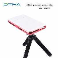 Portabe OTHA Projektor DLP WiFi BT Mini Projektor full HD Android 4.4 OS HDMI Wejście IR Beamer 32 GB Inteligentny Mini proyector