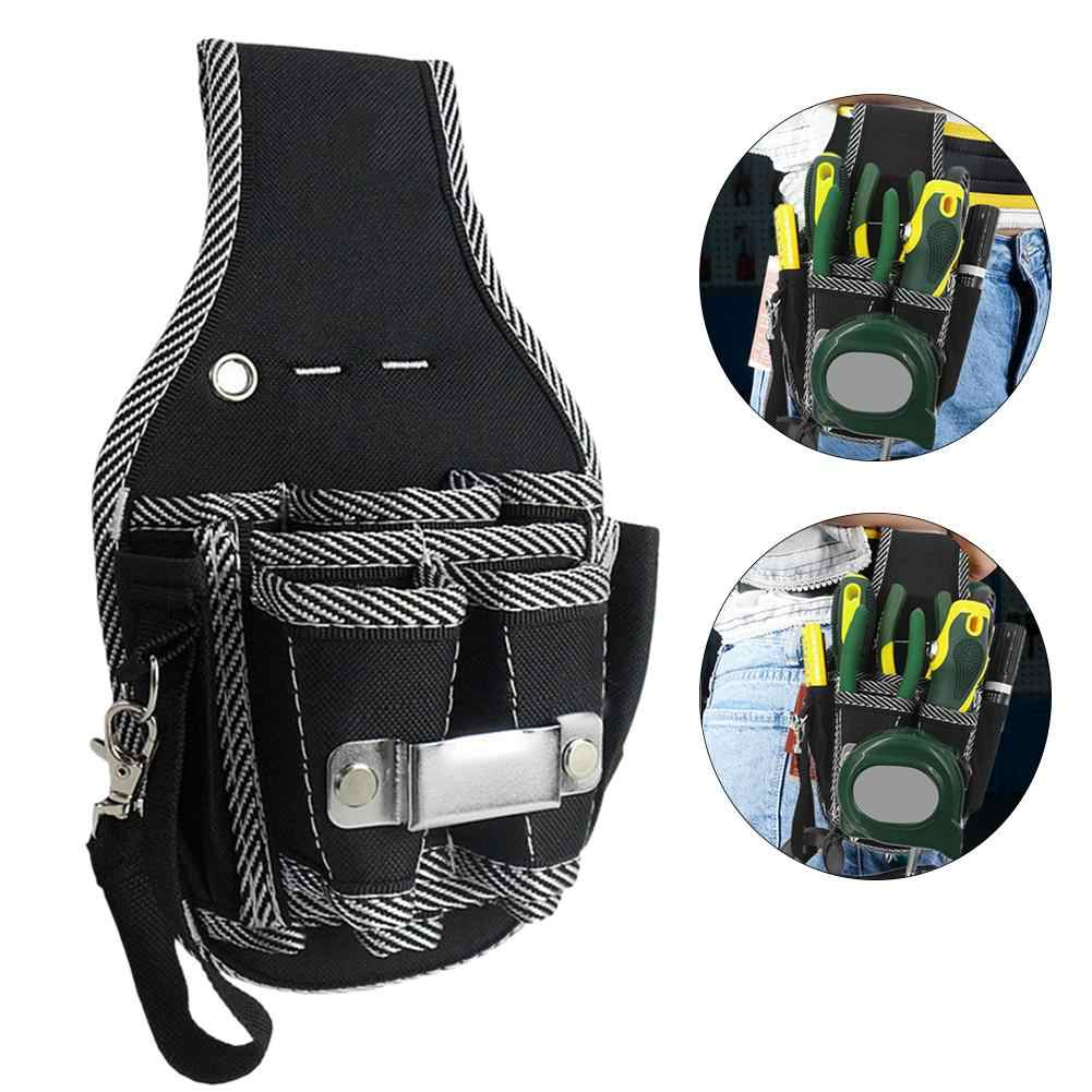 cb8b89564ff4 Protable 9 in 1 Drill Screwdriver Utility Kit Holder Top Quality Nylon  Fabric Tool Bag Electrician Waist Pocket Tool Belt Pouch