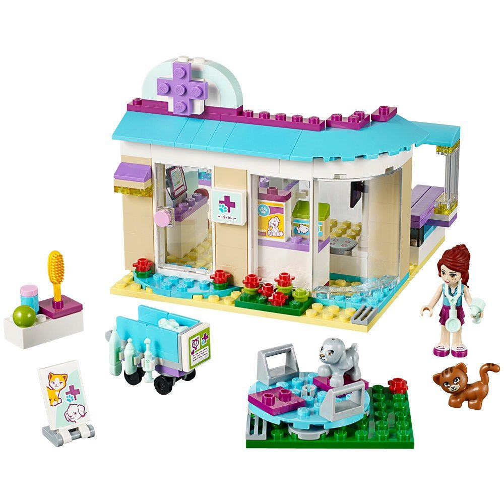 BELA Friends Series Vet Clinic Building Block Classic For Girl Kids Model Toys Marvel Compatible Lepine MOC brick block girl toy new 7033 friends series the city park cafe pirate ship model building block classic girl toys compatible with lepin