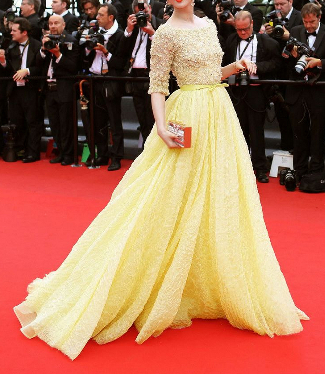 women summer maxi long yellow evening dress 2014 fashion star style new  arrival high quality floral ball gown dresses-in Evening Dresses from  Weddings ... f156619ec3ff