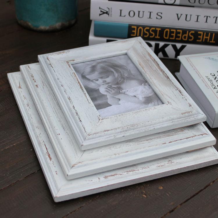 País de américa para hacer el viejo marco de madera blanco vintage ...