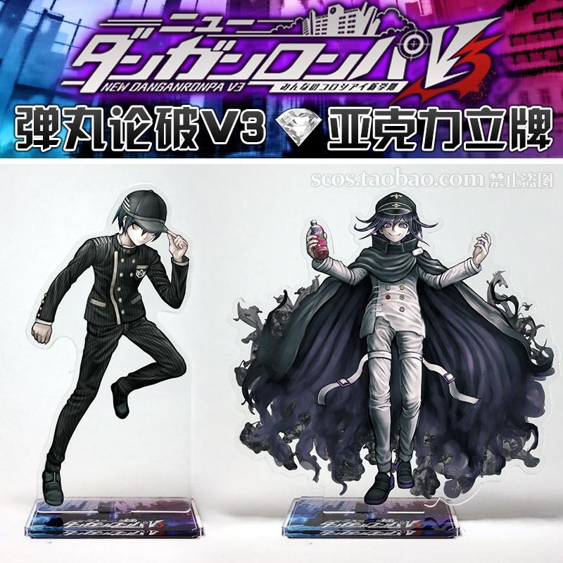 Japanese Anime Danganronpa V3: Killing Harmony Ouma Kokichi Saihara Shuichi Cosplay Acrylic Stand Figure Toy Christmas Gift