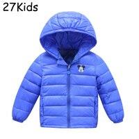 מעיל חורף בני מיני ילדי מותג חורף מעילי מוצרי הלבשה תחתונה Jacket ביגוד סלעית Down מעיילים חמים ילדה קריקטורה 2-10 T