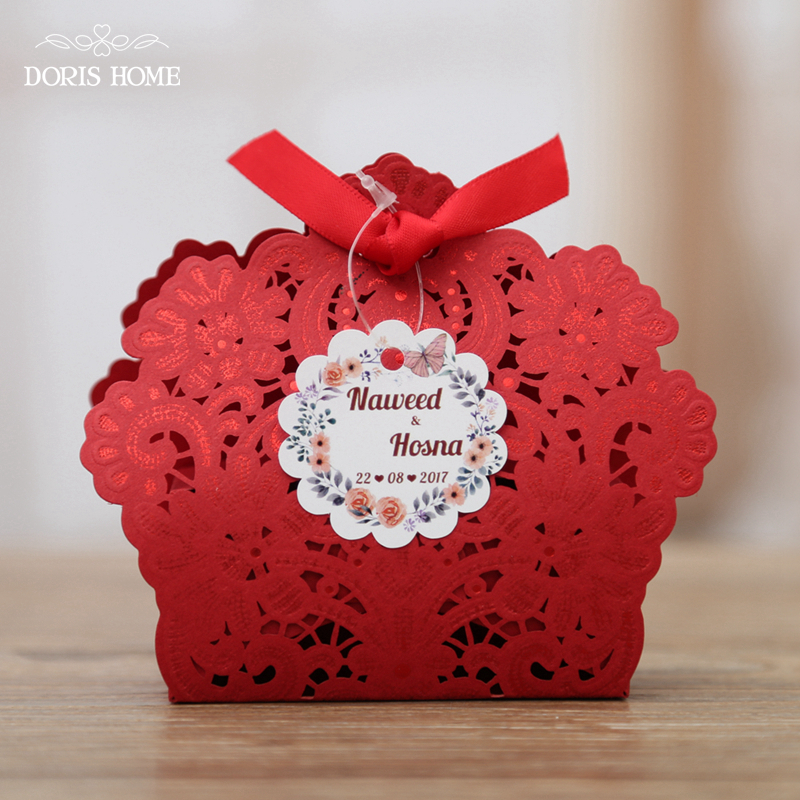 100 Pcs Free Shipping Red White Gold Navy Blue Laser Cut Wedding Favor Boxes Candy Box Casamento Favors And Gifts In Party From Home
