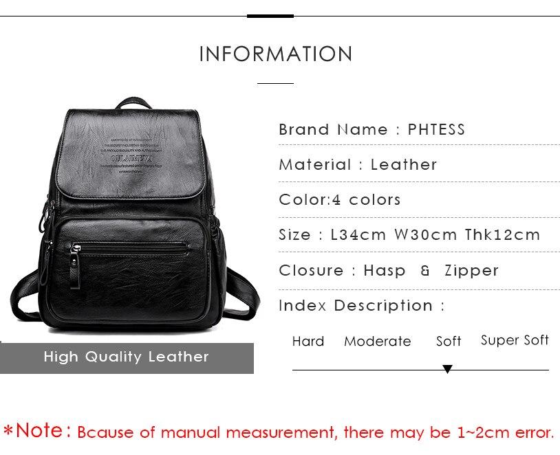 HTB171dOfRjTBKNjSZFNq6ysFXXaJ 2019 Vintage Leather Backpacks Female Travel Shoulder Bag Mochilas Women Backpack Large Capacity Rucksacks For Girls Dayback New
