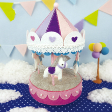 Carousel music box hand diy cloth package suit Cutting Felt Material free shipping