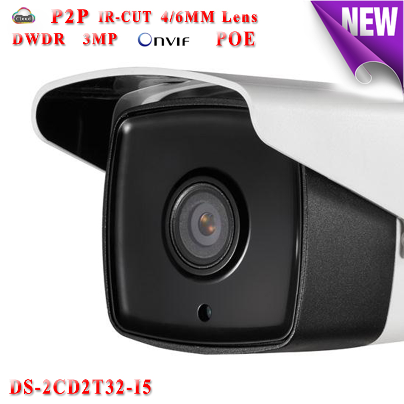 DS-2CD2T32-I5 hikvision ip camera poe 3mp Full HD 1080P ip cameras outdoor waterproof IP66 security Video Surveilance camera hikvision ds 2de7230iw ae english version 2mp 1080p ip camera ptz camera 4 3mm 129mm 30x zoom support ezviz ip66 outdoor poe
