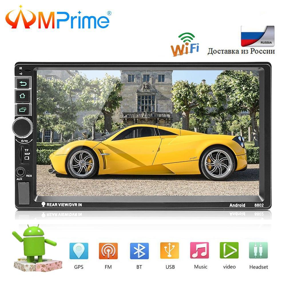 AMPrime Voiture radio 2Din Android Multimédia De Voiture Universel Lecteur 7 Bluetooth GPS autoradio Tactile MP5 Player Support Arrière Caméra