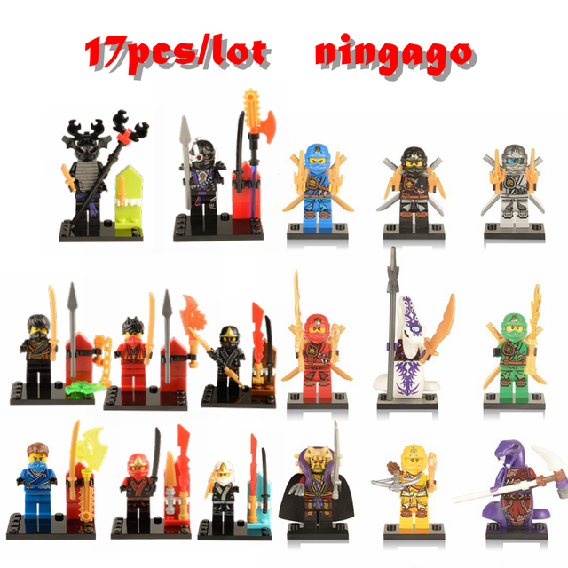 LegoINGlys Ninjagoe DIY Figures With Weapon Ninja Kai Cole Jay Zane Lloyd Nya Building Blocks Kids Toy Gift