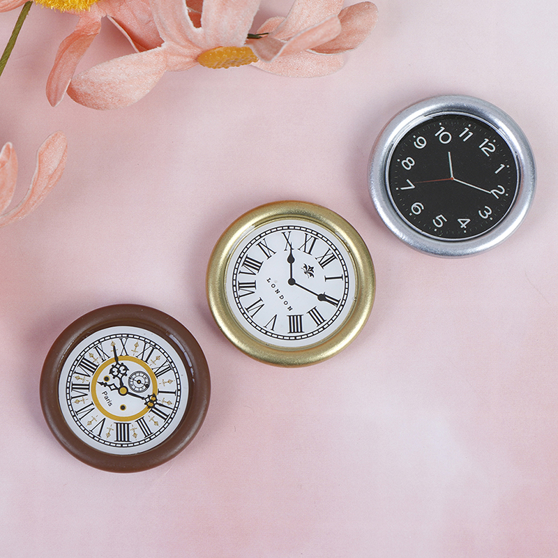 1:12 Scale Resin Toy Home Decor Dollhouse Miniature Wall Clock Play Doll House Miniature Accessories Toy Pretend Play Furniture
