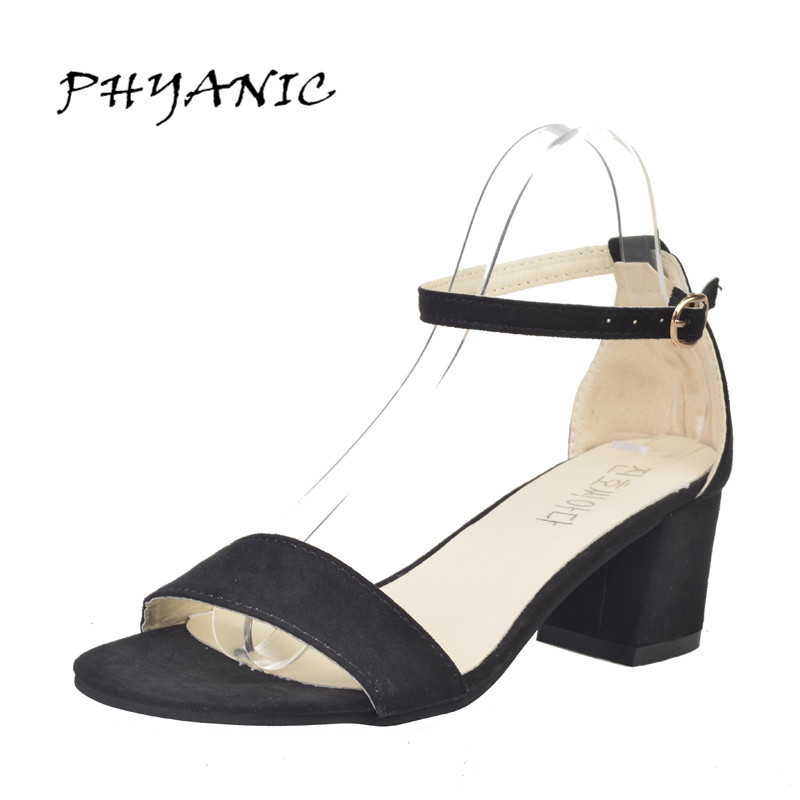 PHYANIC 2017 Summer New Women Sandals Open Toe Women's Sandals Thick Heel Women Shoes Korean Style Gladiator Shoes Platform Shoe phyanic 2017 gladiator sandals gold silver shoes woman summer platform wedges glitters creepers casual women shoes phy3323