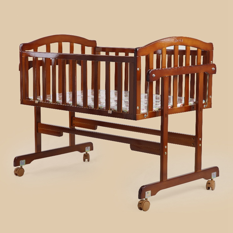 Good Quality Baby Crib Safe Solid Wood Baby Bed Infant
