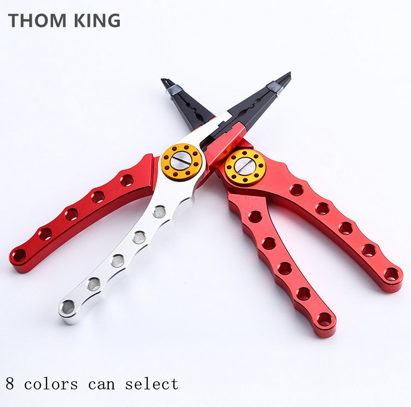 THOM KING 1PCS Fishing Plier Multifunctional Light Lure Accessories Grip Pincer Nipper Wire line Cutter Hook Remove Tool bent nose plier nipper hand tool 135mm