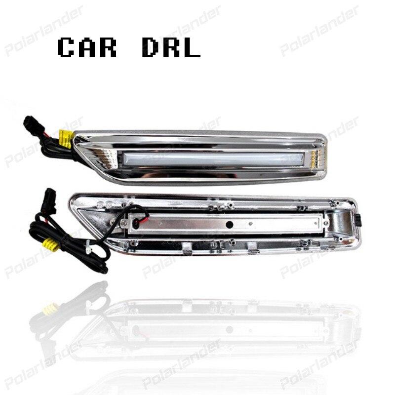 2 pcs Daytime Running Light Car Styling Accessories Fog Lamp cover DRL for T/oyota R/AV4 DRL 2014-2015