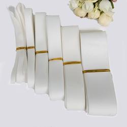 Emballage de carte cadeau bricolage | Ruban en gros-grain de couleur blanche, 7 10 15 20 25 38mm, décoration de mariage, noël