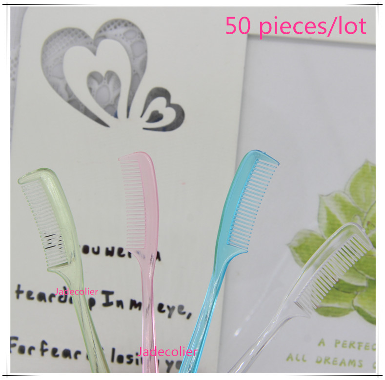 New wholesale 50 pieces/lot mix color small mini eyebrow comb cute little makeup eyelash brush eyelash extension tools little pieces платье little pieces модель 28949119