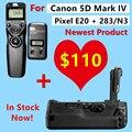 Аккумулятор Ручка для Canon 5D Mark IV Pixel E20 Заменить для Canon BG-E20 + Pixel TW-283 N3 Беспроводной Таймер Пульт Дистанционного управления