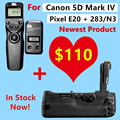 Battery Grip for Canon 5D Mark IV Pixel E20 Replace for Canon BG-E20 + Pixel TW-283 N3  Wireless Timer Remote Control
