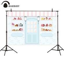 Allenjoy 写真の背景デザートキャンディショップスウィートレパーティー写真背景 photophone アイスクリーム夏の装飾スタジオ撮影