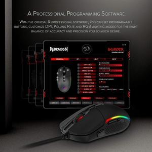 Image 5 - Redragon M719 INVADER السلكية الألعاب ماوس بصري مكتب الفئران RGB الخلفية 10000 ديسيبل متوحد الخواص 7 أزرار للبرمجة جهاز كمبيوتر شخصي ل Dota