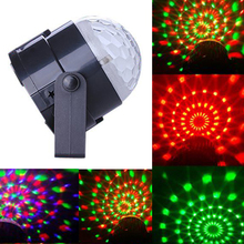 US Plug New RGB 3W Crystal Magic Ball Laser Stage Lighting For Party Disco DJ Bar Bulb Lighting Show MTY3