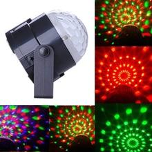 US Plug New RGB 3W Crystal Magic Ball Laser Stage Lighting For Party Disco DJ Bar Bulb Lighting Show MTY3
