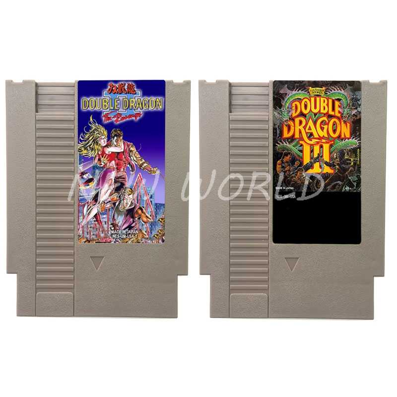 Double Dragon Series Video Game Cartridge Card For 72 Pin 8 Bit Game Player