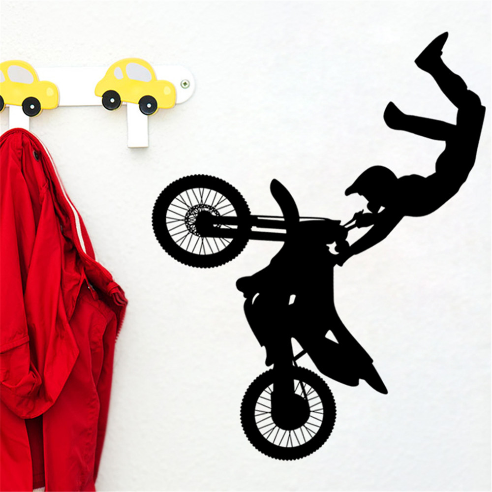 Cool sport bike motorcycle removable wall decals vinyl art mural kids room wall stickers wallpapers for bedroom livingroom