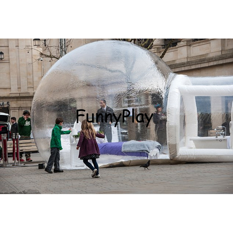 PVC Inflatable Yard Tent Outdoor trade show inflatable bubble tents,outdoor folding camping car top tents,bubble room hotel image