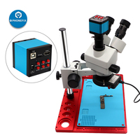 1080P HDMI CMOS Microscope Camera phone PCB repair 3.5 90X Stereo Zoom Microscope with high temperature aluminum alloy pad