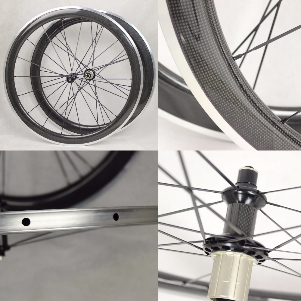 50mm deep  carbon alloy wheels clincher with alloy breaking surface 50mm deep  carbon alloy wheels clincher with alloy breaking surface