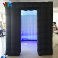custom wedding party inflatable photo booth led photo booth Cabin tent with LED Strips lights Top and Bottom for Party Wedding