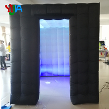 custom wedding party inflatable photo booth led photo booth Cabin tent with LED Strips lights  Top and Bottom  for Party Wedding 3m diameter blow up snow ball photo booth tent inflatable clear globe tent for christmas decoration