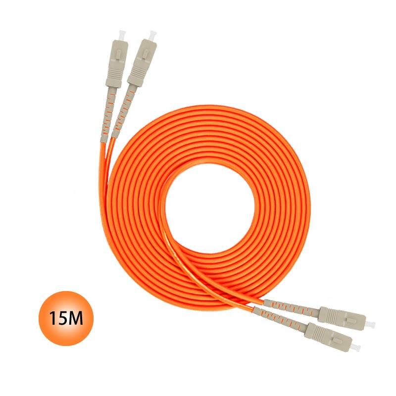 SC/SC 15M 50/125 Multimode Duplex Plenum Fiber Patch Cable Jumper cable 50 Microns UPC Polish Orange Jacket OFNP