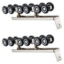 1 пар/уп. холоднокатаная сталь для раздвижной деревянной двери шкаф аппаратный комплект двери колеса роликов 12 колес ролики для вешалки