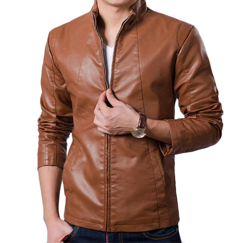 Aliexpress.com : Buy Cool Design Red Pu Leather Jacket Men 2015 ...