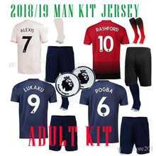 9ed0d7f0c 2019 Manchestered United Adult suit + socks soccer Jerseys 18 19 The Best  Quality POGBA