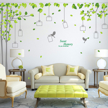 big tree photos frame wall stickers TV background living room decoration diy plant mural art home decals posters peel and stick