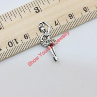 20pcs Antique Silver Tone Angel Charms Pendants for Jewelry Making DIY Handmade Craft 19x26mm A218