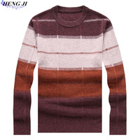100 Pure Wool Woollen Sweater Men S Half High Zipper Collar And Heavy Sweater Autumn Winter